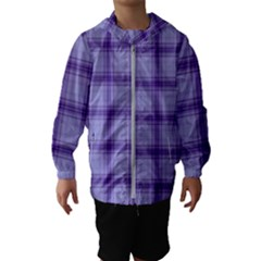 Purple Plaid Original Traditional Hooded Wind Breaker (kids)