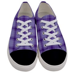 Purple Plaid Original Traditional Women s Low Top Canvas Sneakers