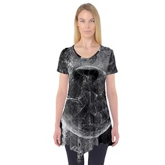 Space Universe Earth Rocket Short Sleeve Tunic