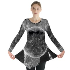 Space Universe Earth Rocket Long Sleeve Tunic