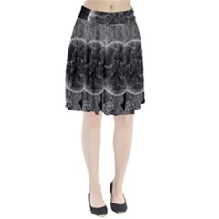 Space Universe Earth Rocket Pleated Skirt