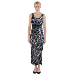 Feather Bird Bird Feather Nature Fitted Maxi Dress