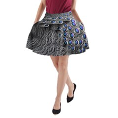 Feather Bird Bird Feather Nature A Line Pocket Skirt
