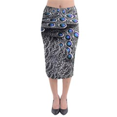 Feather Bird Bird Feather Nature Midi Pencil Skirt