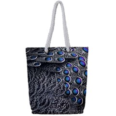 Feather Bird Bird Feather Nature Full Print Rope Handle Tote (small)