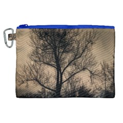 Tree Bushes Black Nature Landscape Canvas Cosmetic Bag (xl)