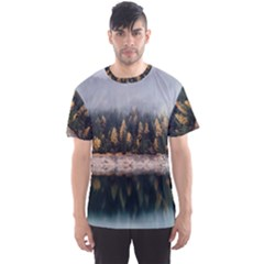 Trees Plants Nature Forests Lake Men s Sports Mesh Tee