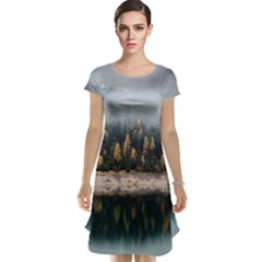 Trees Plants Nature Forests Lake Cap Sleeve Nightdress