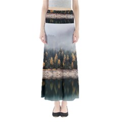 Trees Plants Nature Forests Lake Full Length Maxi Skirt