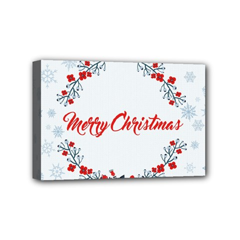 Merry Christmas Christmas Greeting Mini Canvas 6  X 4