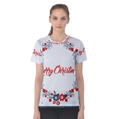 Merry Christmas Christmas Greeting Women s Cotton Tee