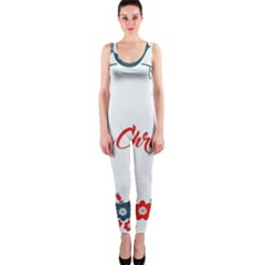 Merry Christmas Christmas Greeting Onepiece Catsuit