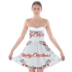 Merry Christmas Christmas Greeting Strapless Bra Top Dress