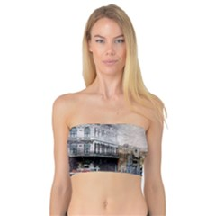 Venice Small Town Watercolor Bandeau Top