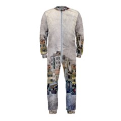 Venice Small Town Watercolor Onepiece Jumpsuit (kids)