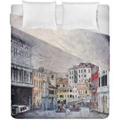 Venice Small Town Watercolor Duvet Cover Double Side (california King Size)