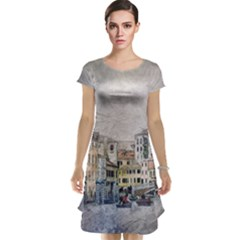 Venice Small Town Watercolor Cap Sleeve Nightdress