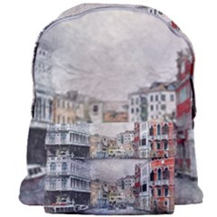 Venice Small Town Watercolor Giant Full Print Backpack