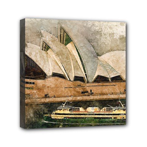 Sydney The Opera House Watercolor Canvas Travel Bag