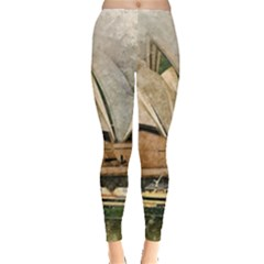 Sydney The Opera House Watercolor Leggings