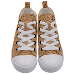 Tribal Pattern Hand Drawing 2 Kid s Mid Top Canvas Sneakers