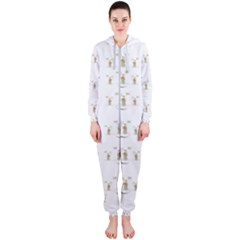 Angels Under The  Sun And Peace Doves Hooded Jumpsuit (ladies)