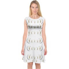 Angels Under The  Sun And Peace Doves Capsleeve Midi Dress