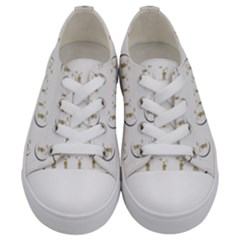 Angels Under The  Sun And Peace Doves Kids  Low Top Canvas Sneakers
