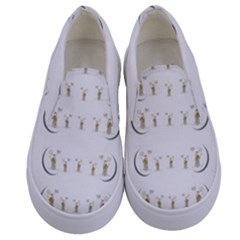 Angels Under The  Sun And Peace Doves Kids  Canvas Slip Ons