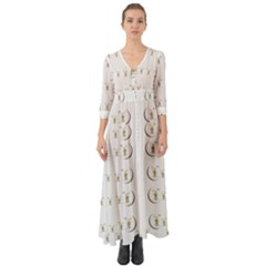 Angels Under The  Sun And Peace Doves Button Up Boho Maxi Dress