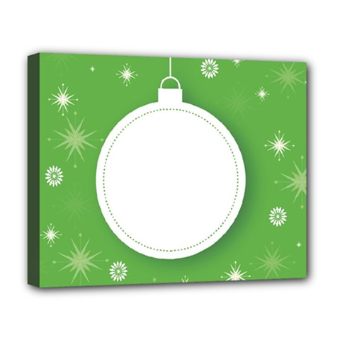 Christmas Bauble Ball Deluxe Canvas 20  X 16