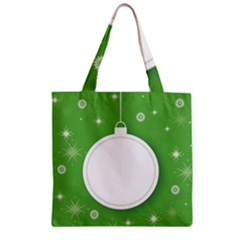 Christmas Bauble Ball Zipper Grocery Tote Bag