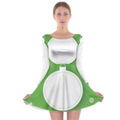 Christmas Bauble Ball Long Sleeve Skater Dress