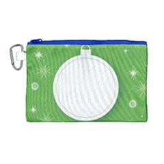 Christmas Bauble Ball Canvas Cosmetic Bag (large)