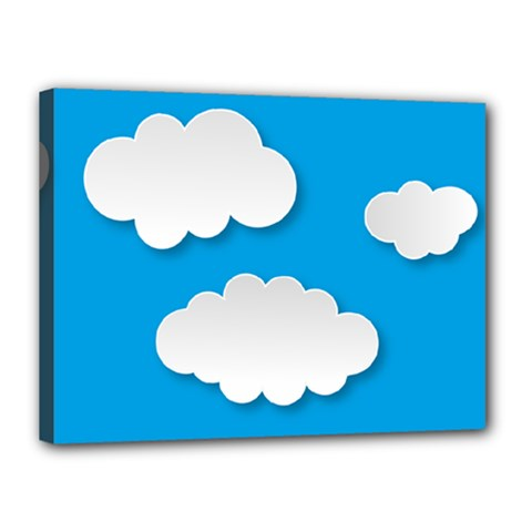 Clouds Sky Background Comic Canvas 16  X 12