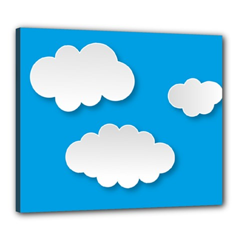 Clouds Sky Background Comic Canvas 24  X 20