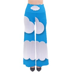 Clouds Sky Background Comic Pants