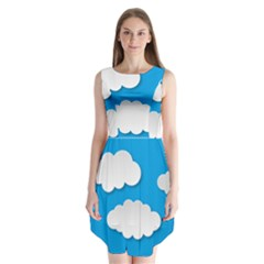 Clouds Sky Background Comic Sleeveless Chiffon Dress