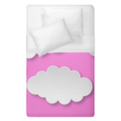 Clouds Sky Pink Comic Background Duvet Cover (single Size)