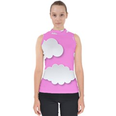 Clouds Sky Pink Comic Background Shell Top