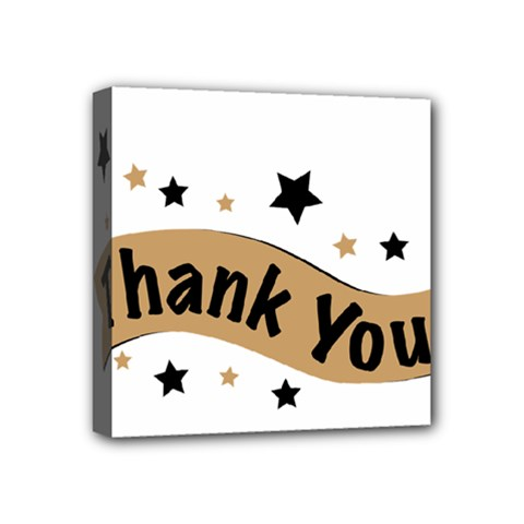 Thank You Lettering Thank You Ornament Banner Mini Canvas 4  X 4