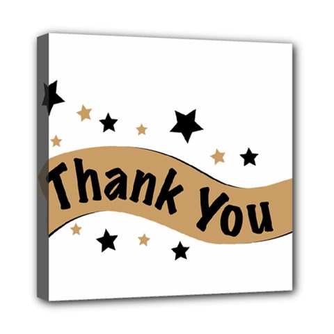 Thank You Lettering Thank You Ornament Banner Mini Canvas 8  X 8
