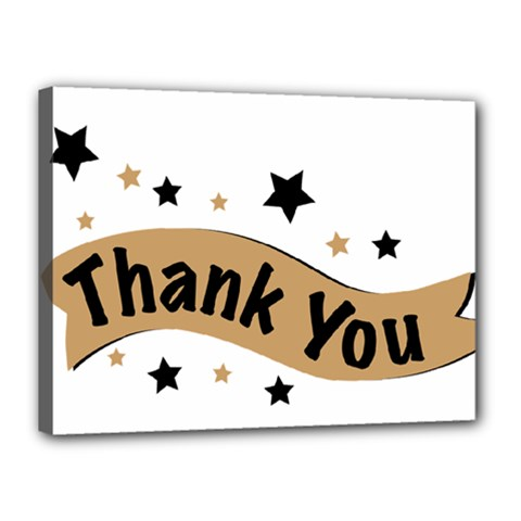Thank You Lettering Thank You Ornament Banner Canvas 16  X 12