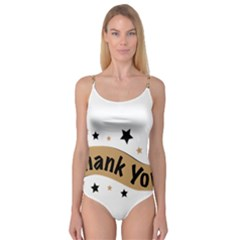 Thank You Lettering Thank You Ornament Banner Camisole Leotard