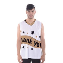 Thank You Lettering Thank You Ornament Banner Men s Basketball Tank Top