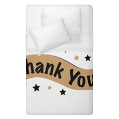Thank You Lettering Thank You Ornament Banner Duvet Cover (single Size)
