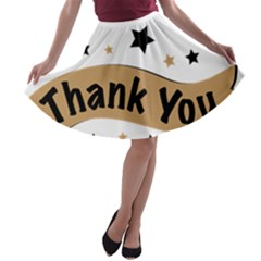Thank You Lettering Thank You Ornament Banner A Line Skater Skirt