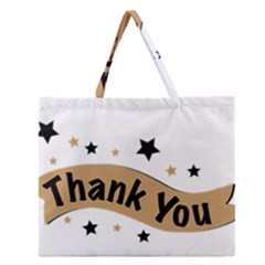 Thank You Lettering Thank You Ornament Banner Zipper Large Tote Bag
