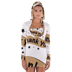 Thank You Lettering Thank You Ornament Banner Long Sleeve Hooded T Shirt