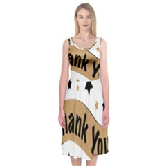 Thank You Lettering Thank You Ornament Banner Midi Sleeveless Dress